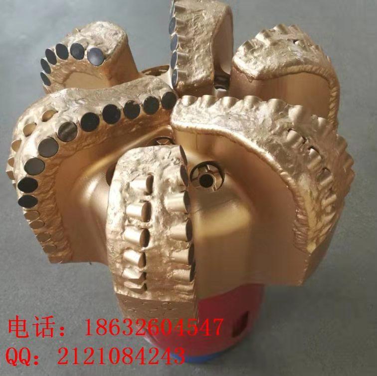 供应江汉钻头API认证六翼PDC钻头镶金刚石复合片8.75寸