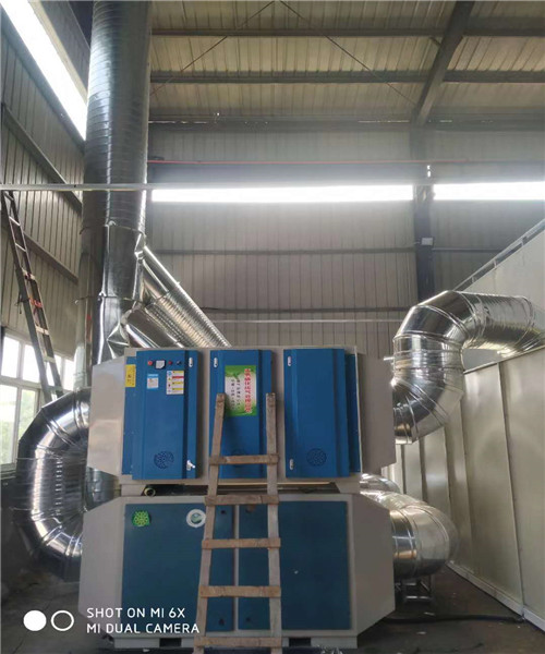 UV光氧催化设备移动伸缩房废气处理设备环保烤漆房伟航制造