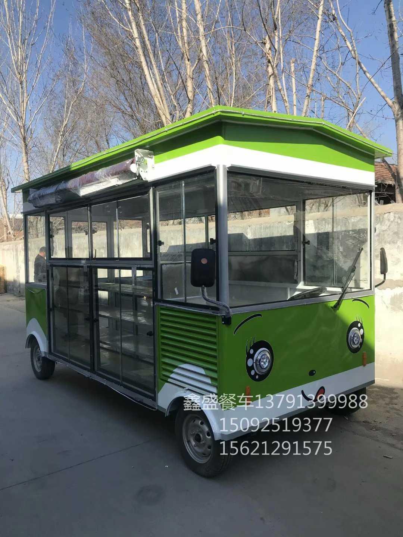 深圳街景小吃车多功能快餐车 电动小吃车流动四轮快餐车