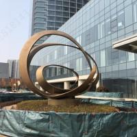 周口耐候钢抽象艺术雕塑 建筑入口工艺摆件